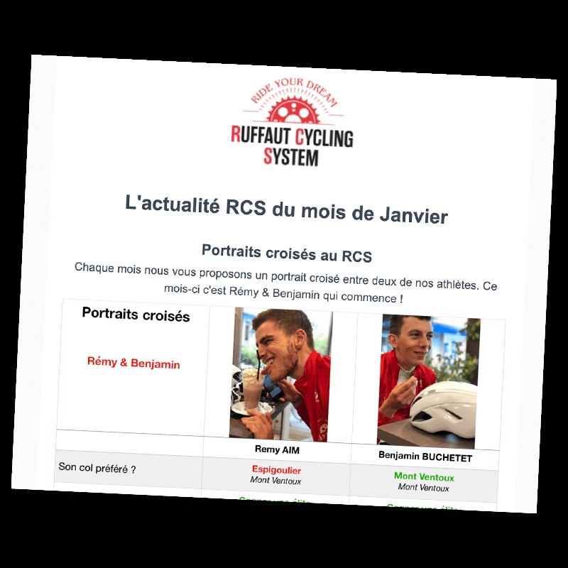 Newsletter ruffaut cycling system