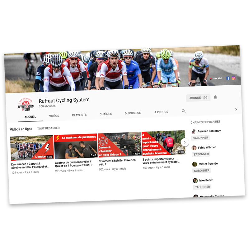 Youtube Channel ruffaut cycling system