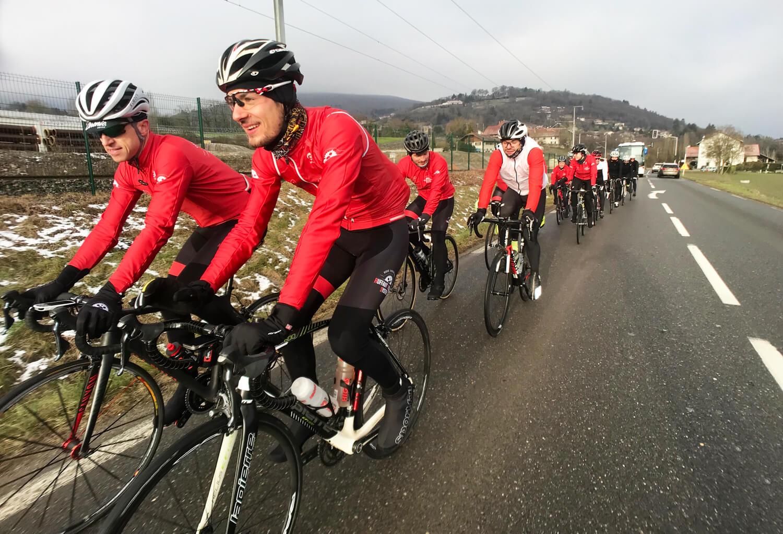 Stage entraînement cycliste
