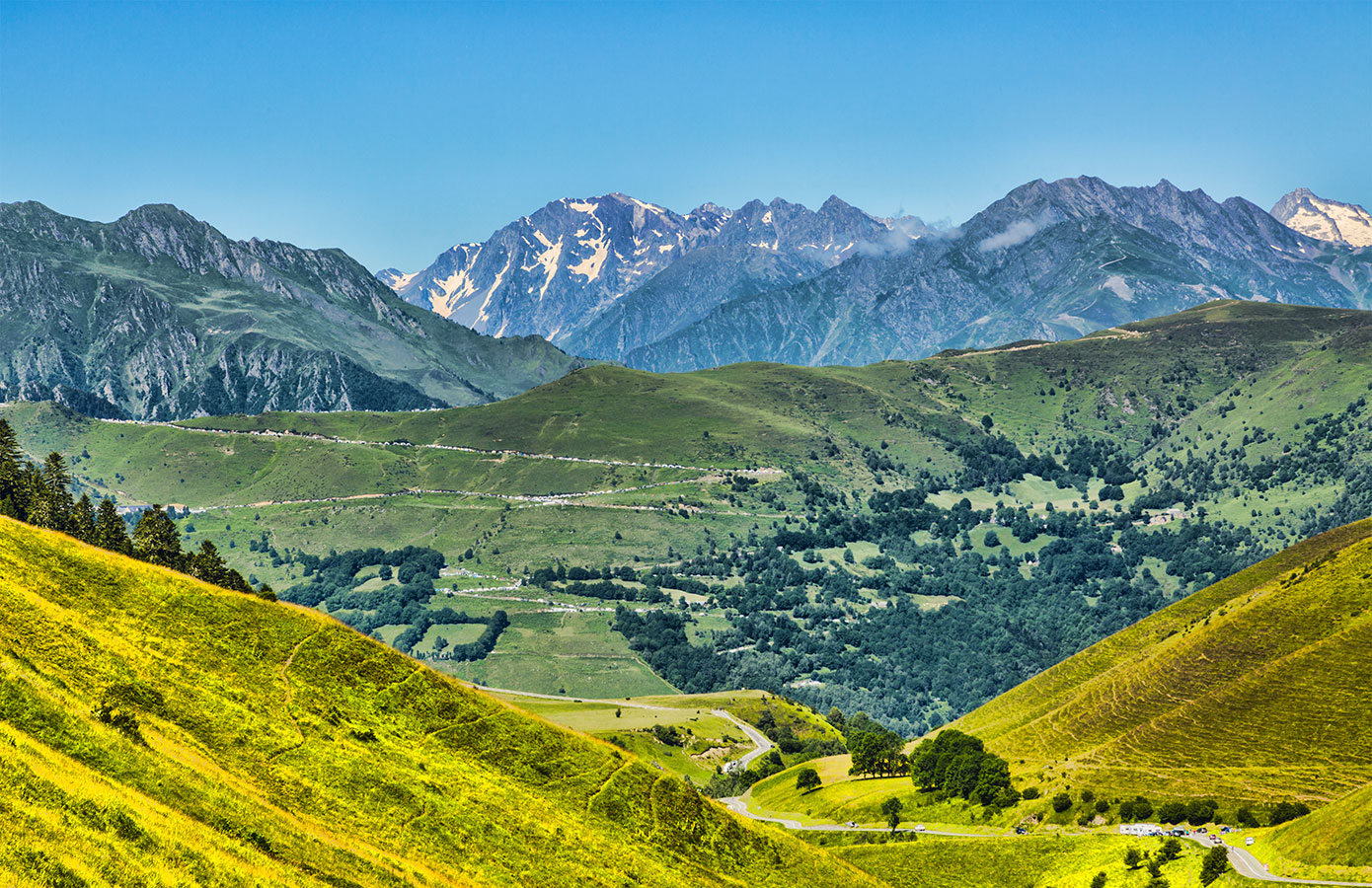 Cyclisme col des Pyrénées